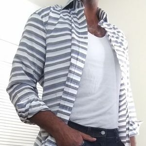 Work or Play Men's Striped Shirt.